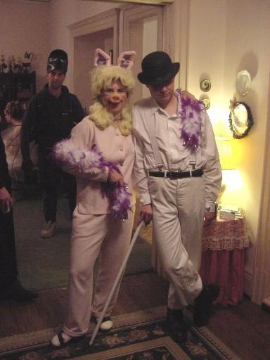 Tanja as Miss Piggy & Bernie as Alexander de Large from Clockwork Orange